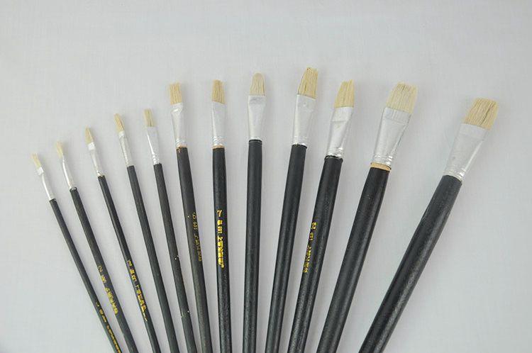 油画笔 上海生花牌661 黑杆